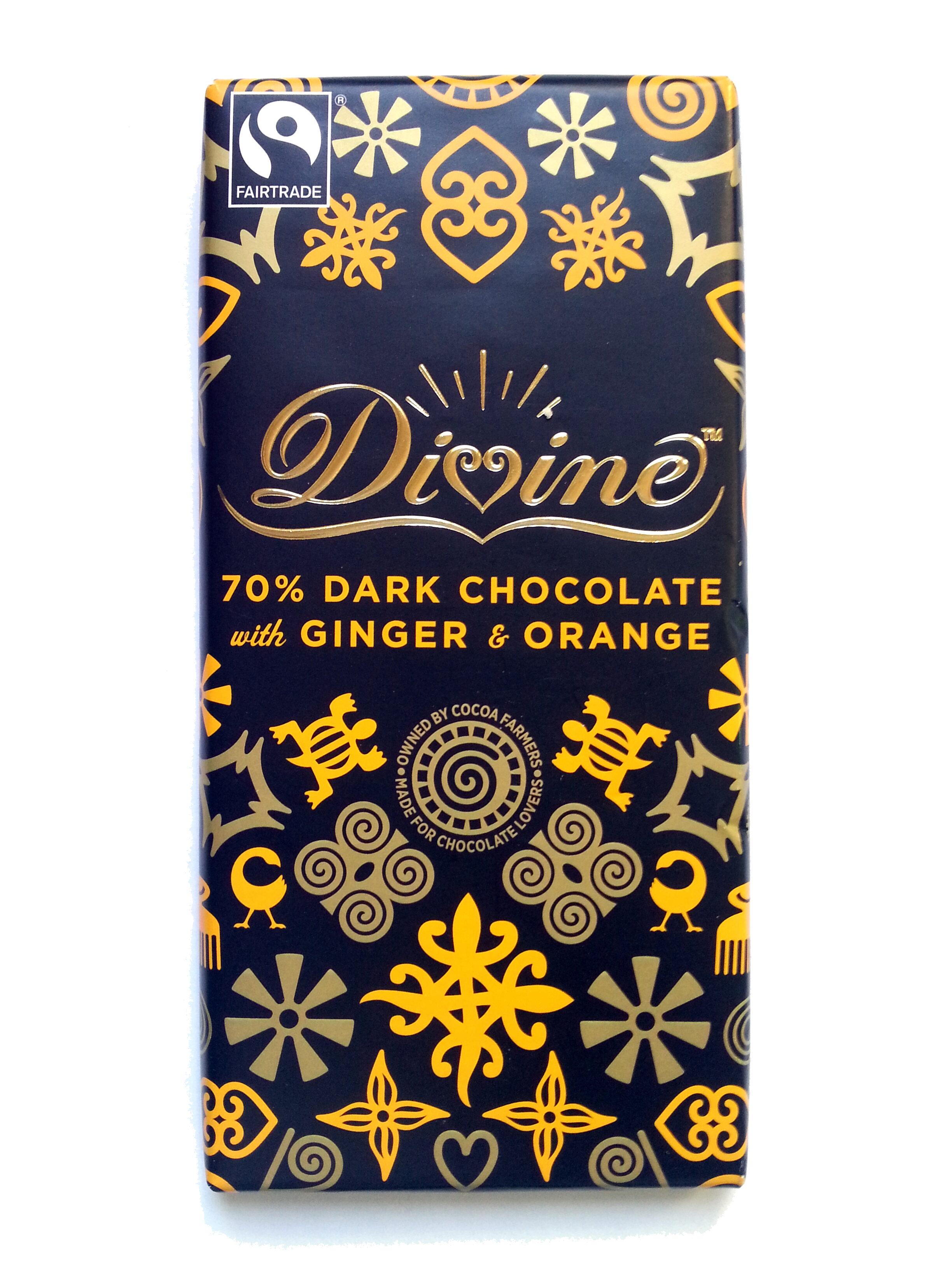 Chocolat noir 70 % avec du gingembre et de l'Orange - Produit - sv