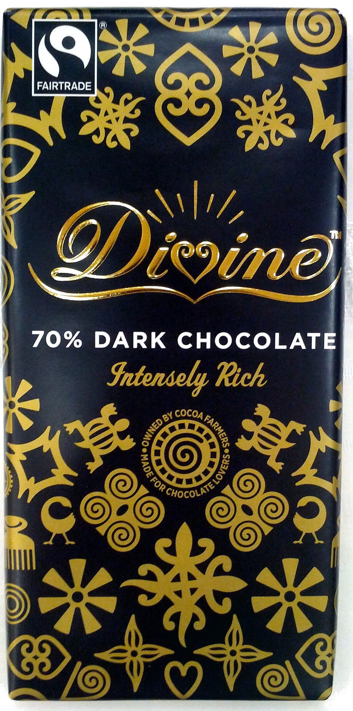 70% Dark Chocolate - Divine - 100 g - Product - en