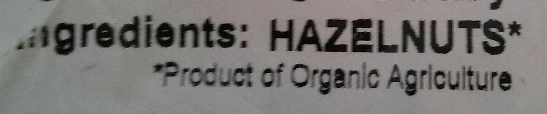 Organic Hazelnuts - Ingrédients - en