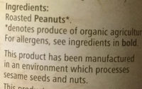 Organic smooth peanut butter - Ingredients - en
