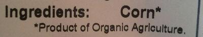 Organic Popcorn - Ingrédients - en