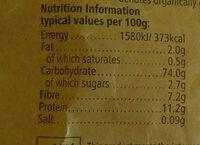 Suma Organic Wheat Flakes - Nutrition facts