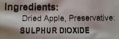 Apple Rings - Ingrédients - en