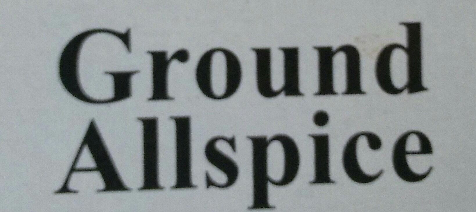Ground Allspice - Ingredients - en