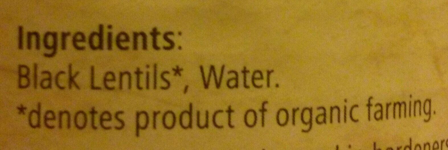 Organic black beluga lentils - Ingredients