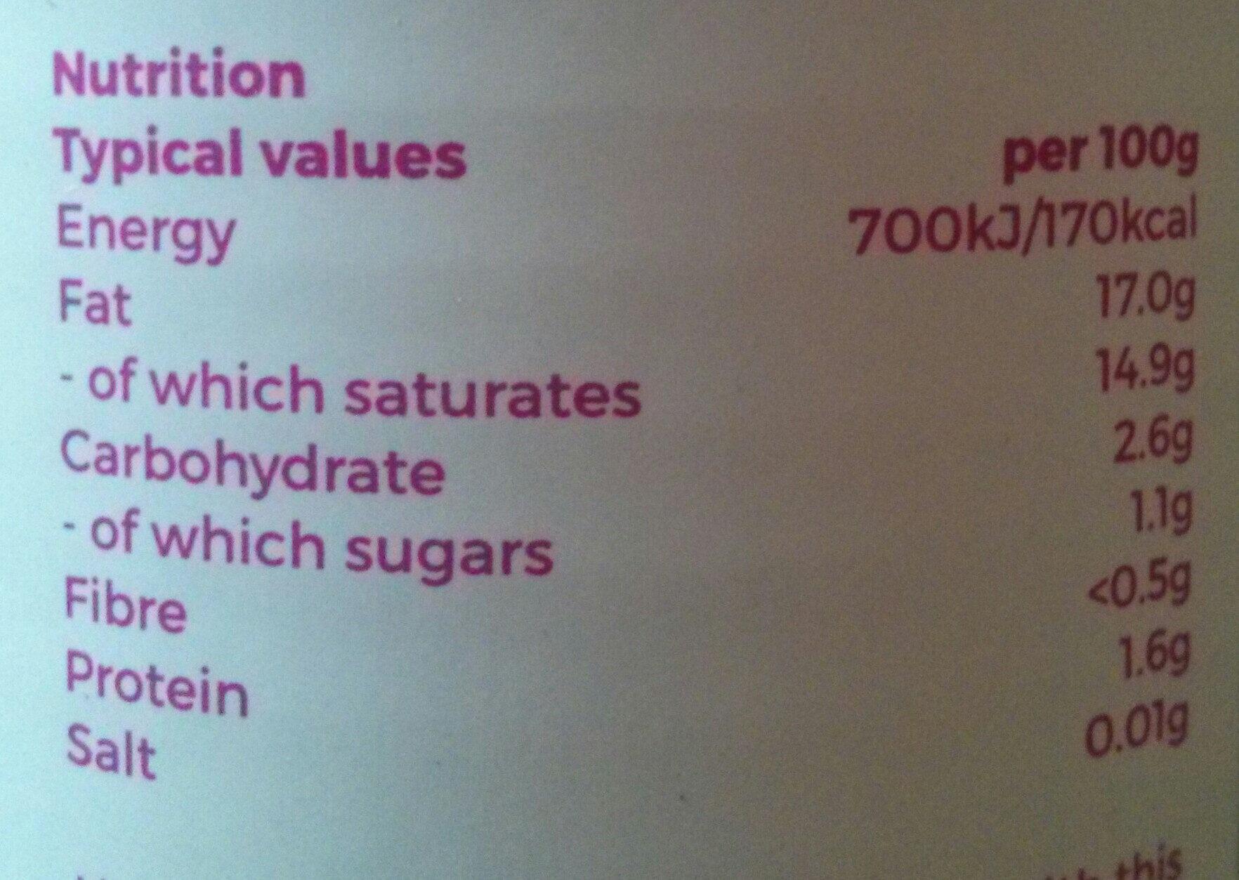Coconut milk - Informations nutritionnelles - en