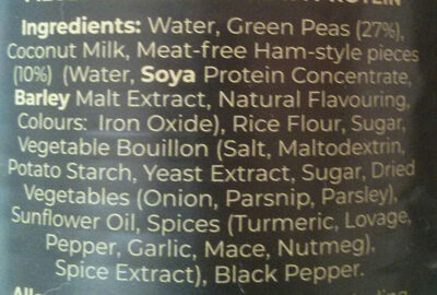 Vegan Pea & Ham Soup - Ingrédients - en