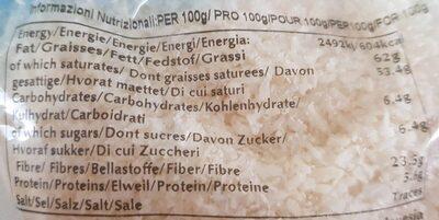 Medium dessicated coconut - Informations nutritionnelles - es
