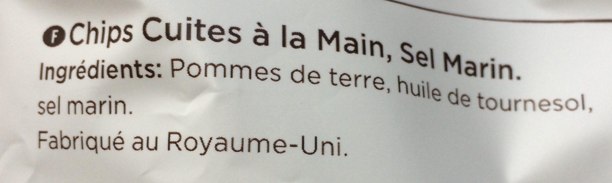 Chips cuites à la main - Ingredients - fr