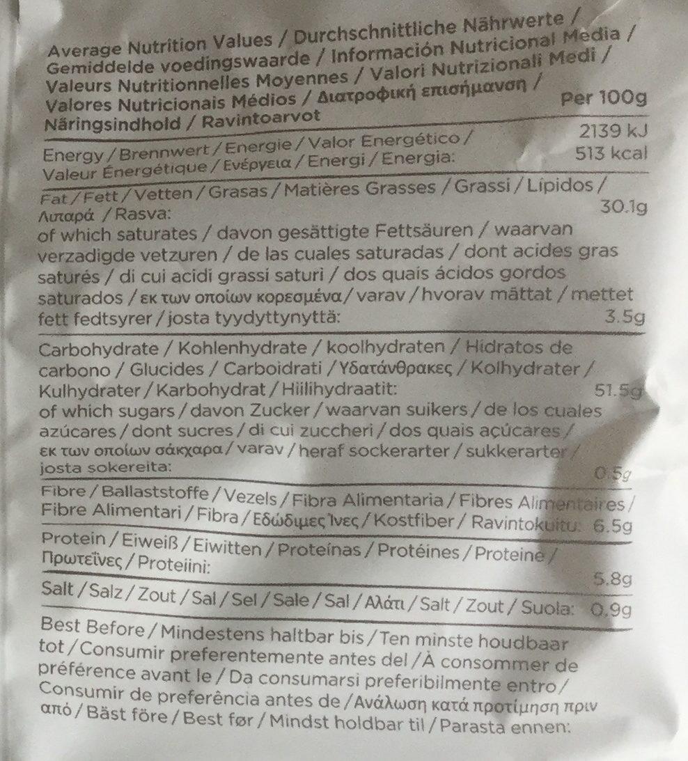 Chips cuites à la main - Nutrition facts - fr