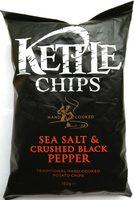 Kettle Chips Sea Salt & Crushed Black Pepper - Product