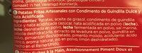 Patatas fritas Sweet Chili & Sour cream bolsa 150 g - Ingredients - fr