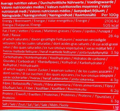 Patatas fritas Sweet Chili & Sour cream bolsa 150 g - Nutrition facts