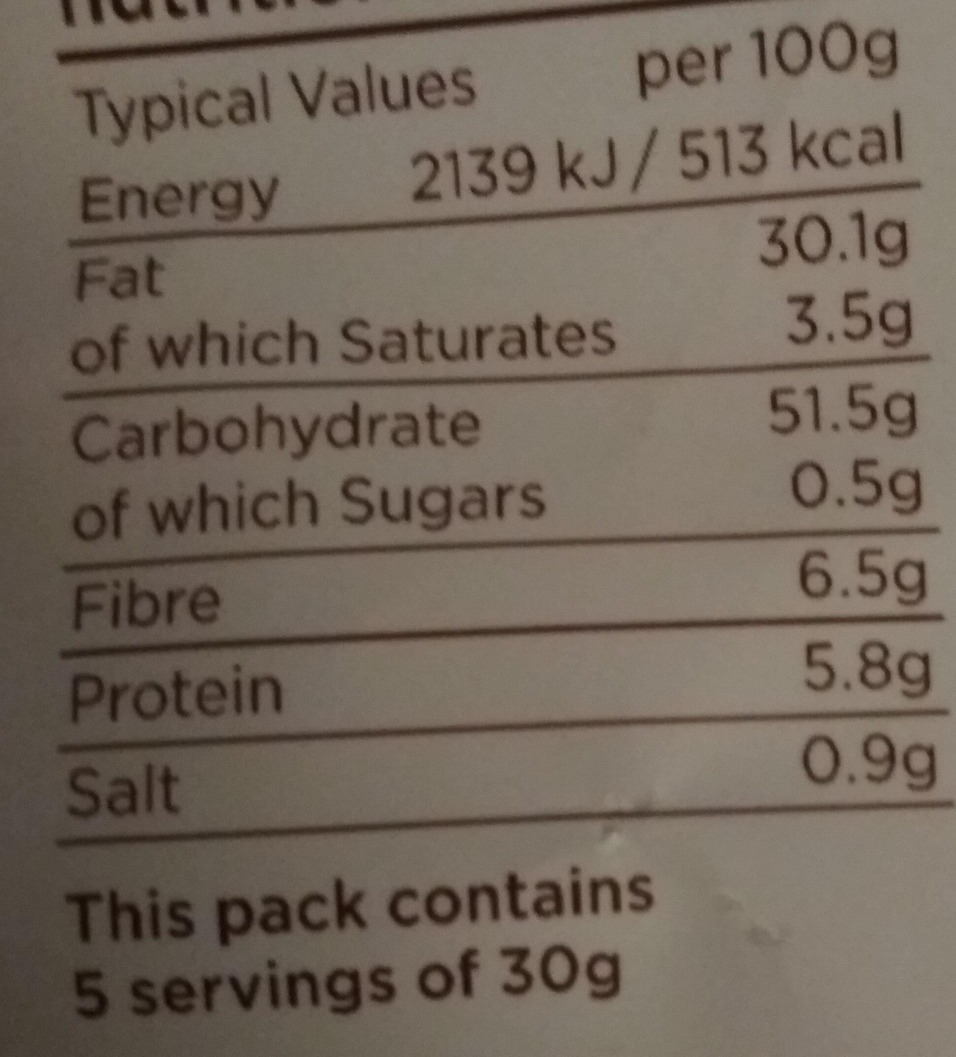 Lightly Salted - Informations nutritionnelles - fr