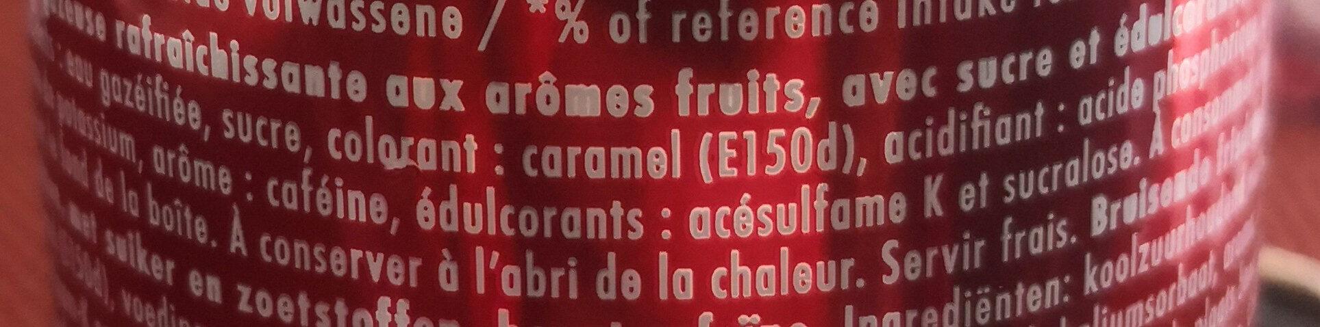 Dr Pepper - Ingredients - fr