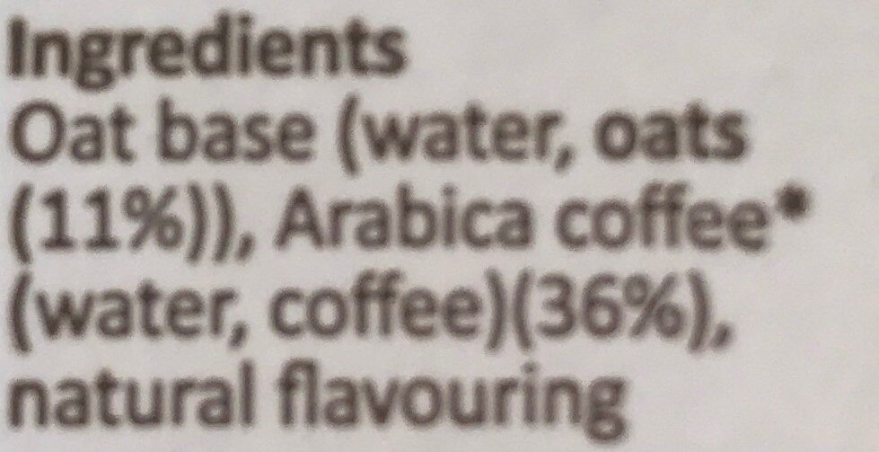 Iced coffee - Ingredients