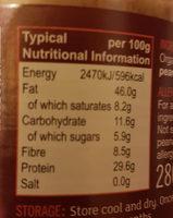 Organic unsalted crunchy peanut butter - Nutrition facts - en