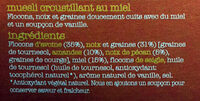 Honey  granola - Ingrédients - fr