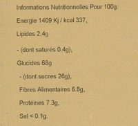 Simply Fruity Muesli - Nutrition facts
