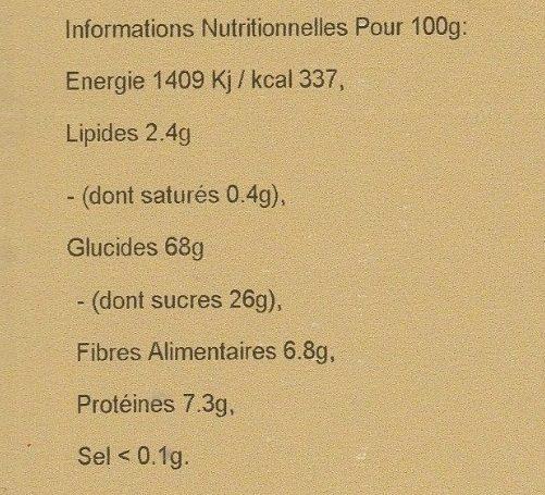 Simply Fruity Muesli - Voedingswaarden - fr