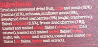 Super Cranberry, Cherry & Almond Muesli - Ingredients