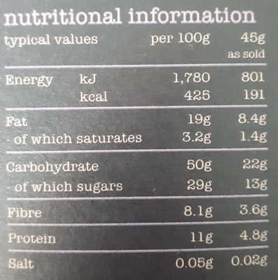 Fantastically fruity muesli - Nutrition facts