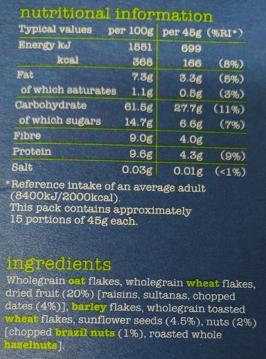 Dorset Cereals Simply Delicious Muesli - Voedingswaarden - nl