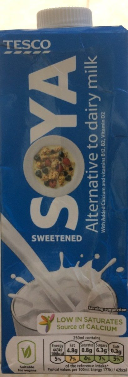 Soya sweetened - Produit