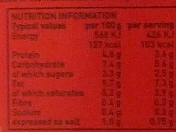 Nacho Cheese Sauce - Nutrition facts