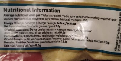 Semolina - Nutrition facts - en