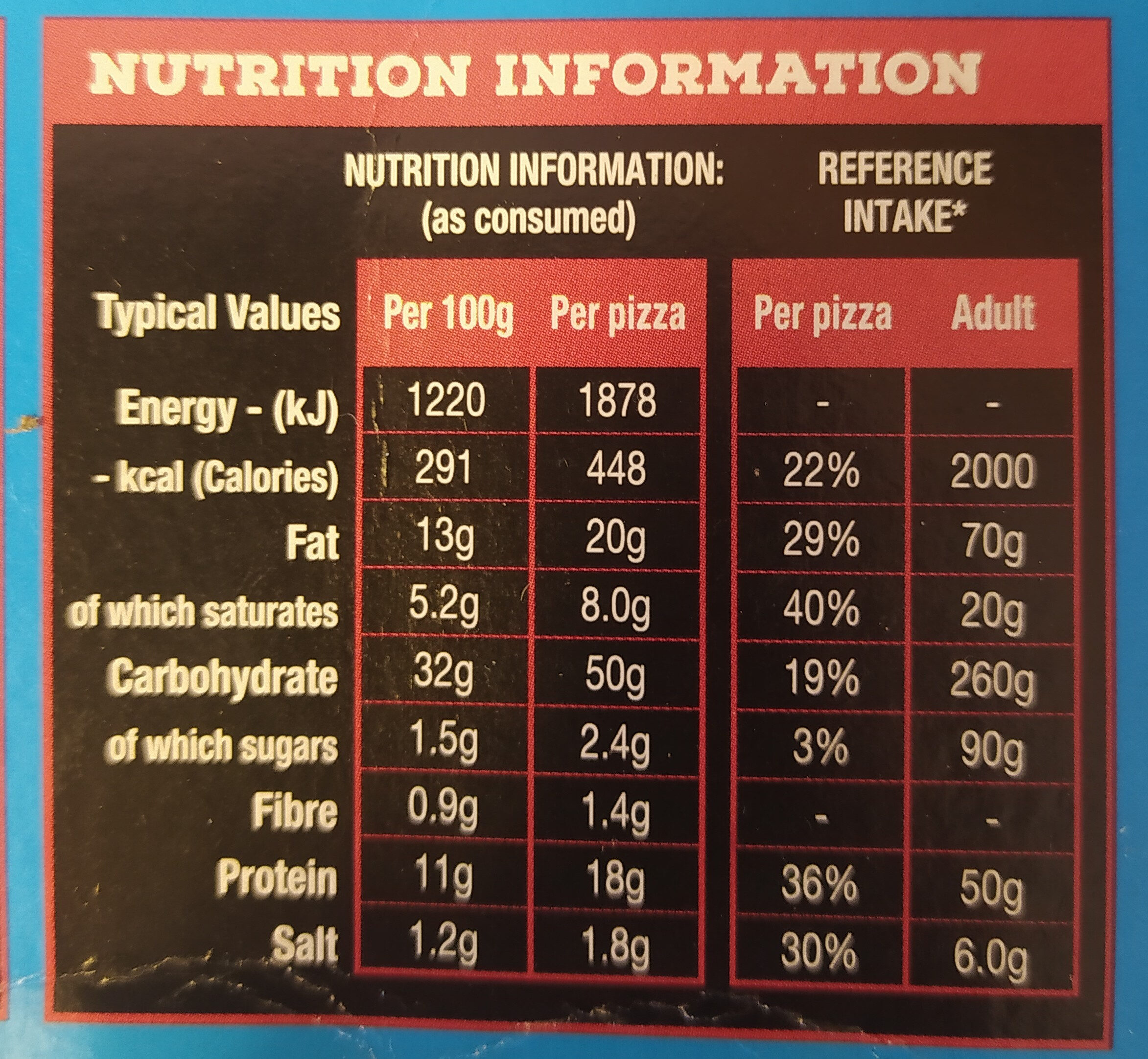 2 Deep Dish Pepperoni Pizzas - Nutrition facts - en