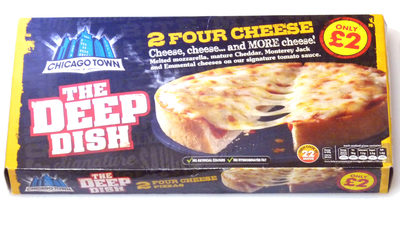 2 Four cheese pizzas - Product - en