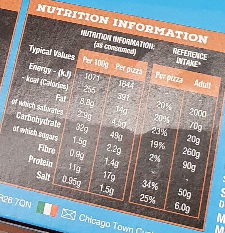 Chicken Club - Valori nutrizionali - en