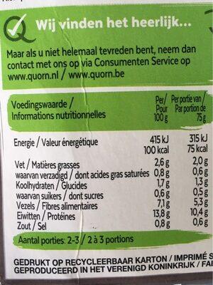 Dés - Nutrition facts - nl