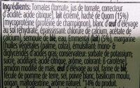 Lasagne Quorn - Ingrediënten - fr