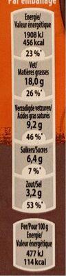 Lasagne Quorn - Voedingswaarden - fr