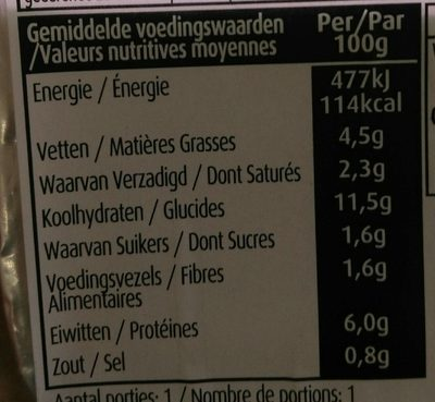 Lasagne Quorn - Nährwertangaben