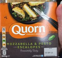 Quorn mozzarella pesto escalopes - Produit - fr