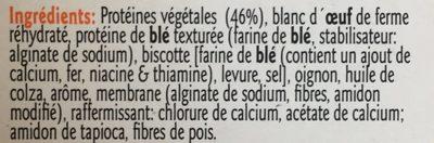 Boudins Vegetarien - Ingrédients - fr