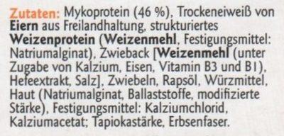 Vegetarische Grillbratwurst - Ingrédients - de