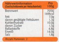 Vegetarische Grillbratwurst - Informations nutritionnelles - de