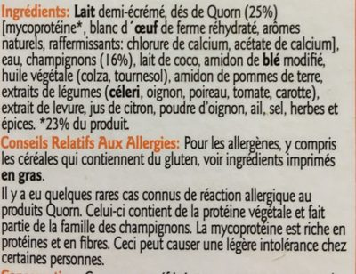 Vol Au Vent - Ingrédients - fr