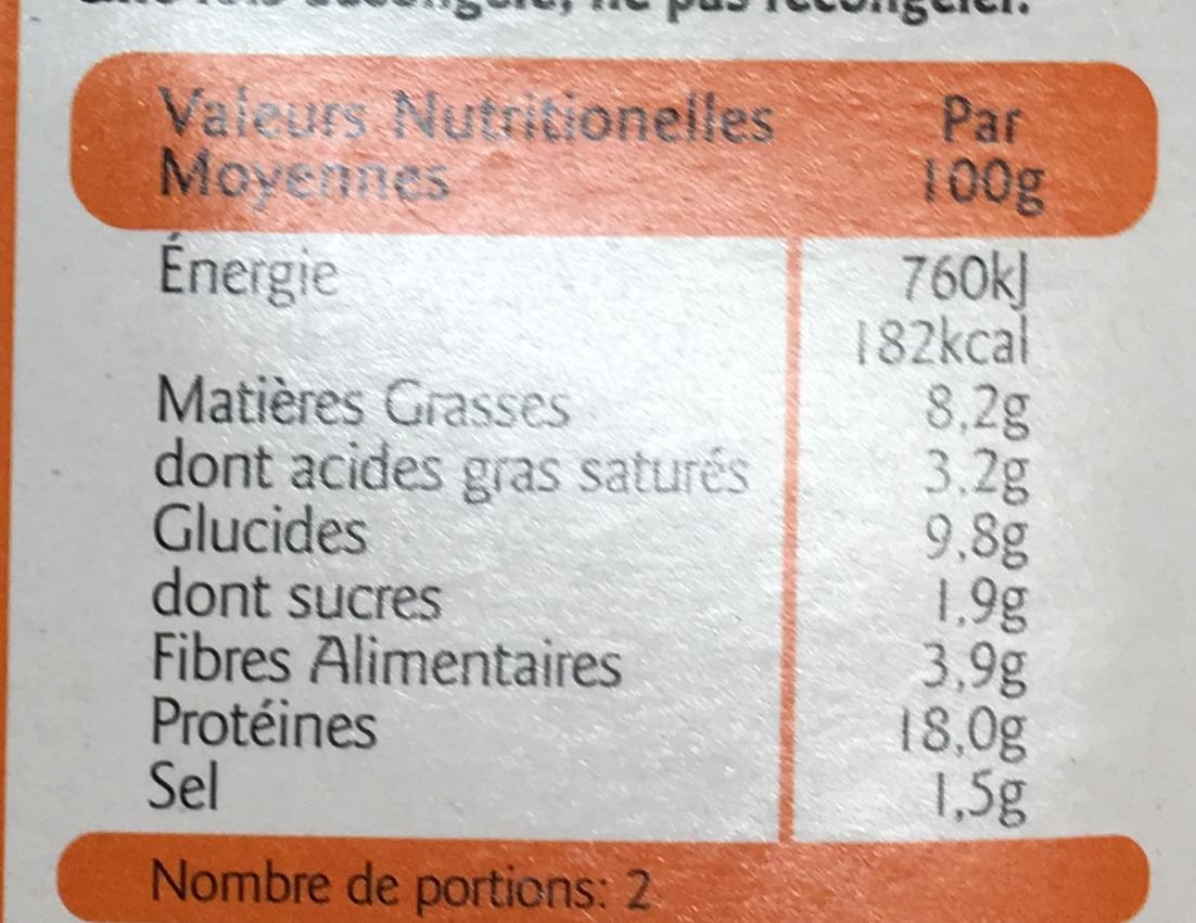 Steak haché - Informations nutritionnelles - fr