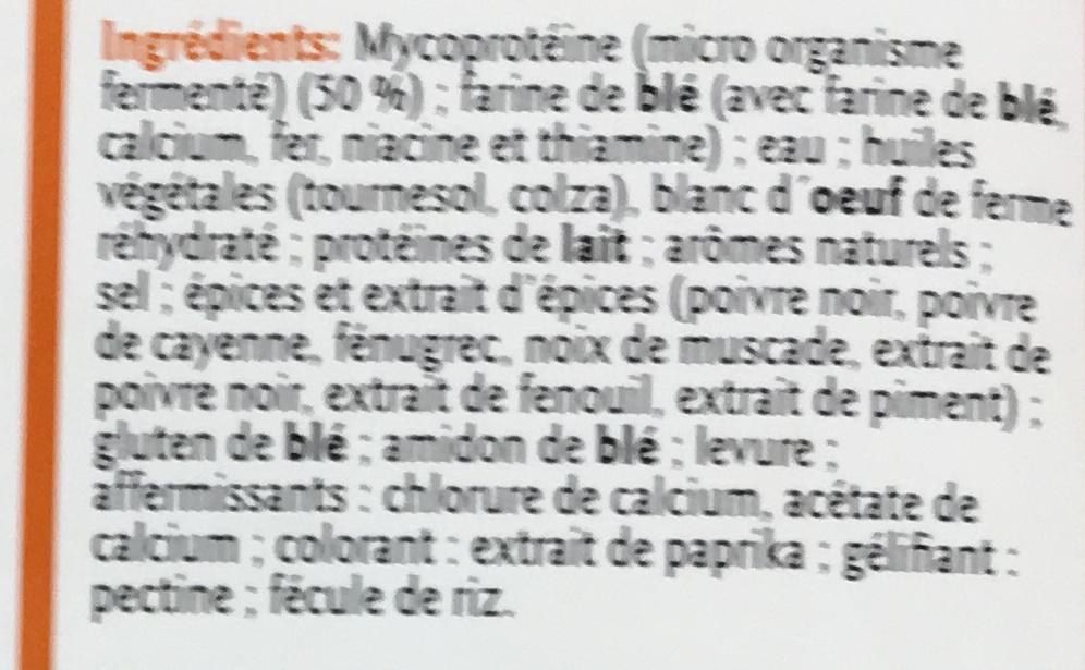 Panés Poivre et Épices - Ingrédients - fr