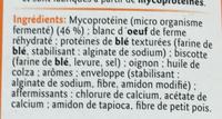 Saucisses - Ingrédients