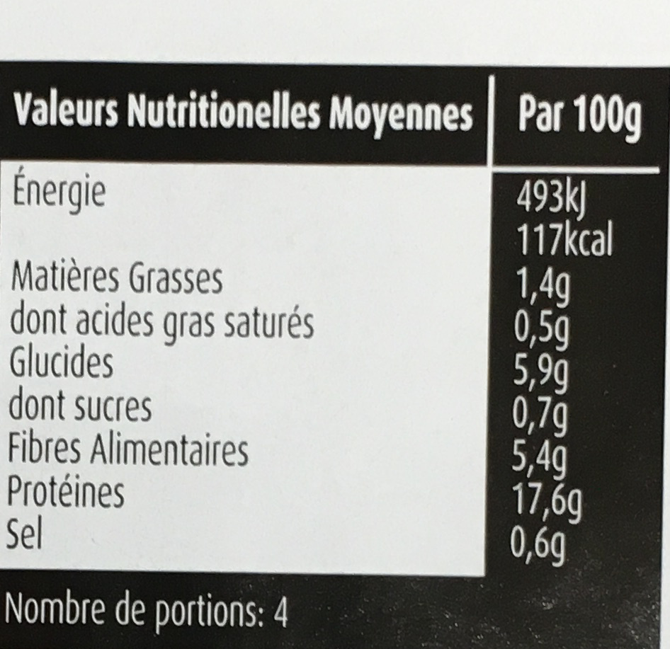 Fines tranches - Informations nutritionnelles - fr