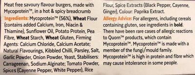 Hot & Spicy Burgers - Ingrediënten