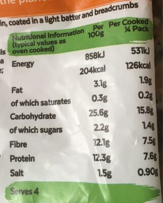 13 crunchy nuggets - Informations nutritionnelles