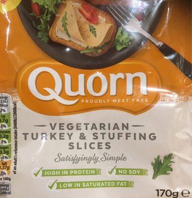 Vegetarian Turkey & Stuffinh Slices - Produit - en