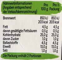 Vegane Nuggets - Informations nutritionnelles - de